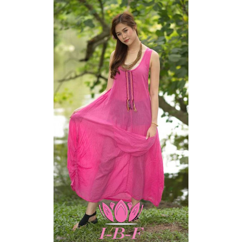 Long dress, hot pink, kangeroo