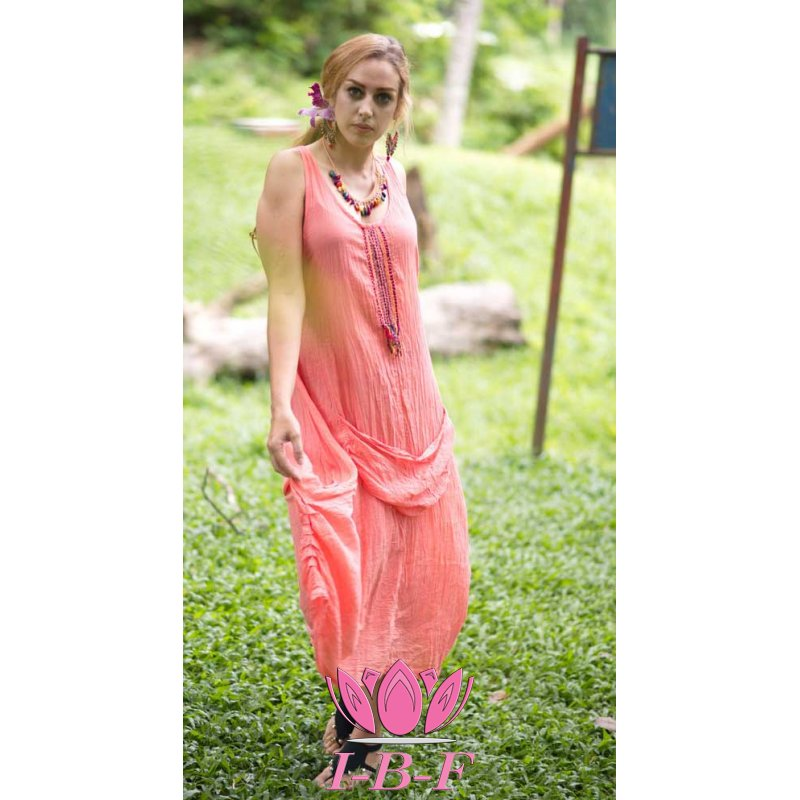 Long dress, pink, model Kangeroo