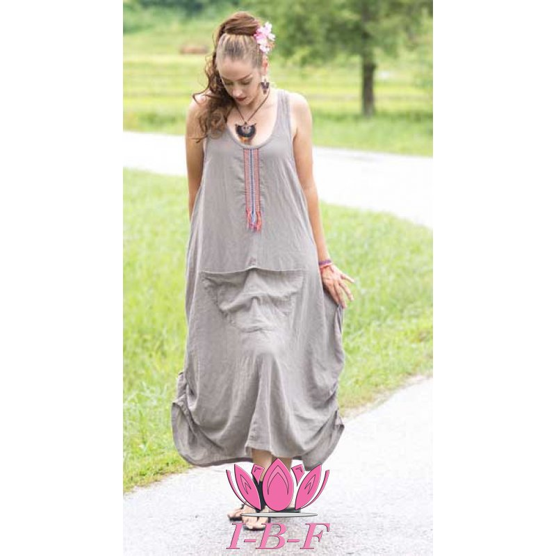 Long dress, grey, Kangeroo