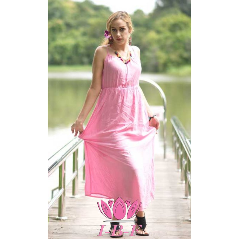 Long dress, light pink