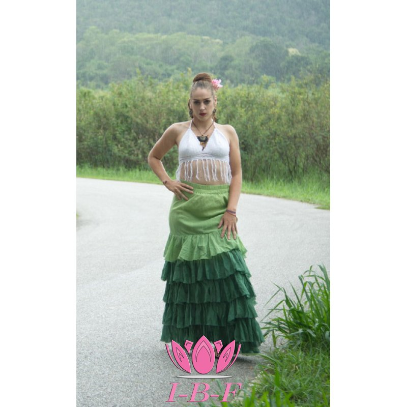 Gipsy Skirt Green twin-tone