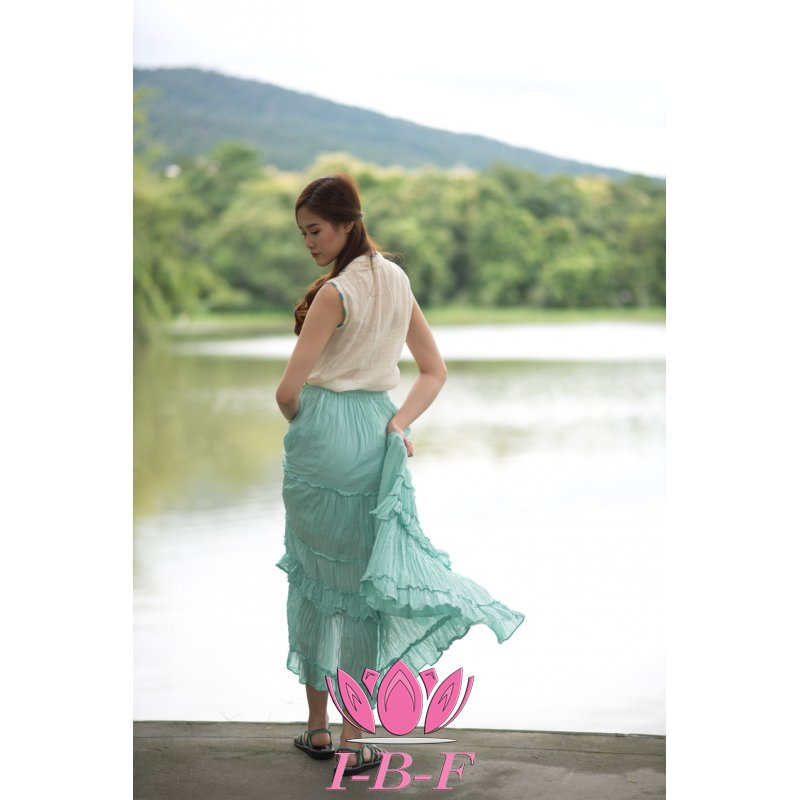 Exclusive Ribbon skirt Turquoise