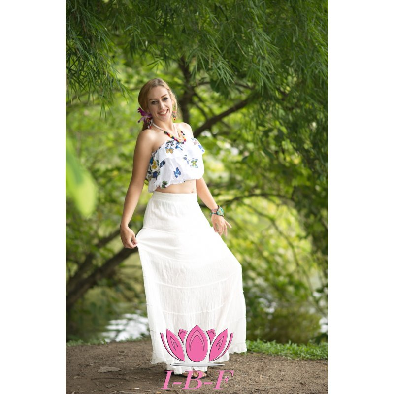Ribbon skirt White