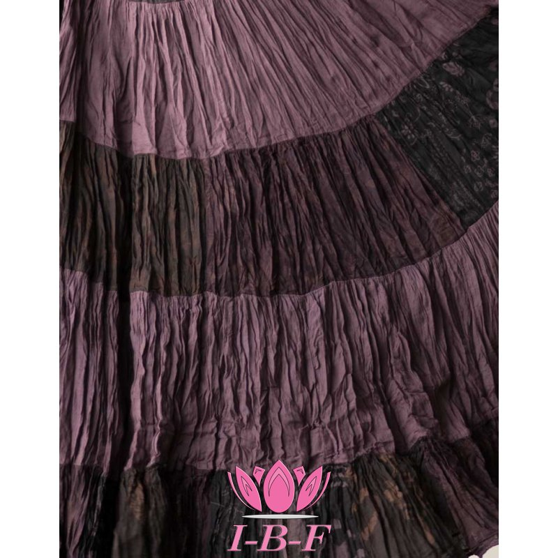 Patchwork Skirt Dark Purple