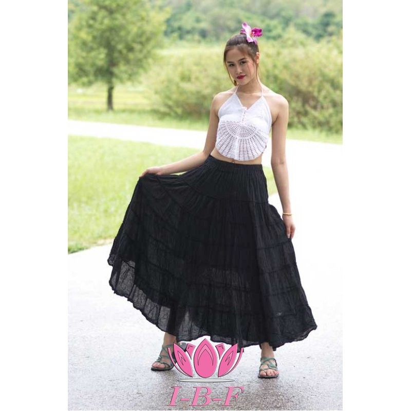 Ribbon skirt Black