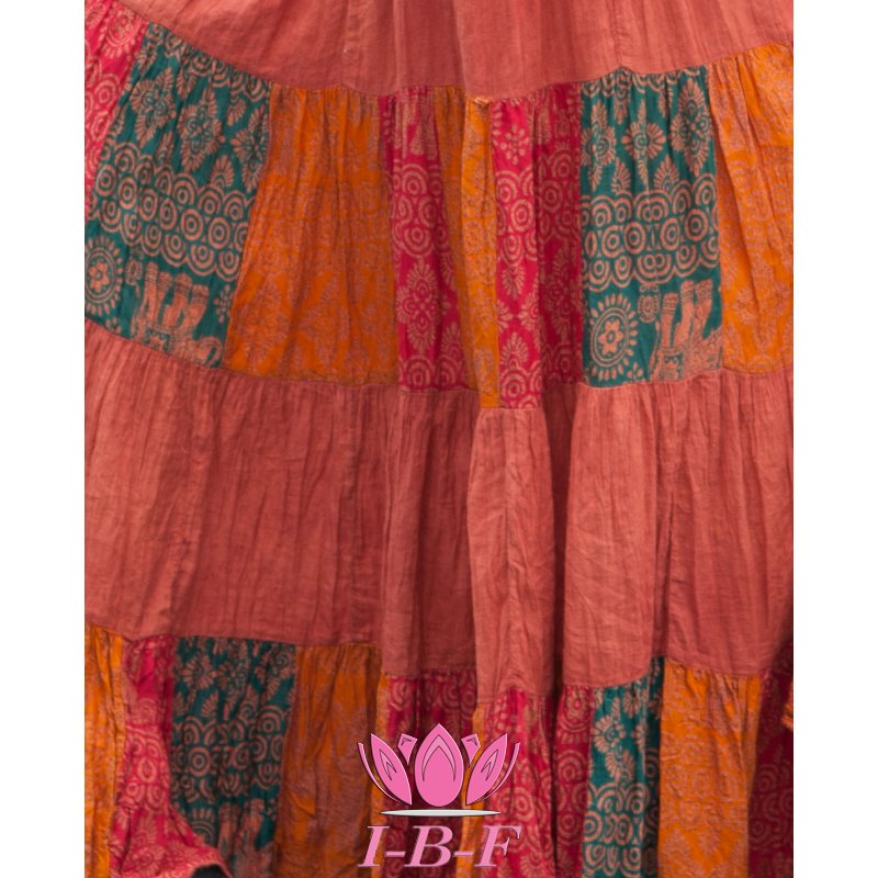Patchwork Skirt Terracotta