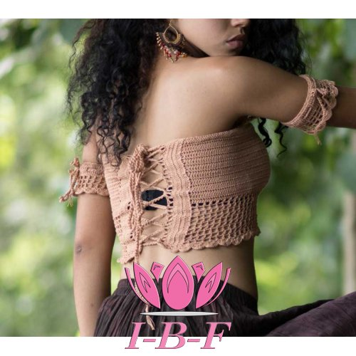 Crochet Top beige mdl8